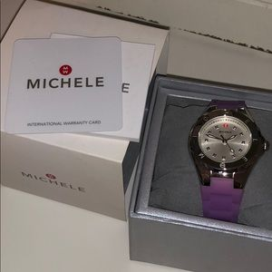 Michele Accessories - Michele Tahitian Jelly Bean Watch -purple